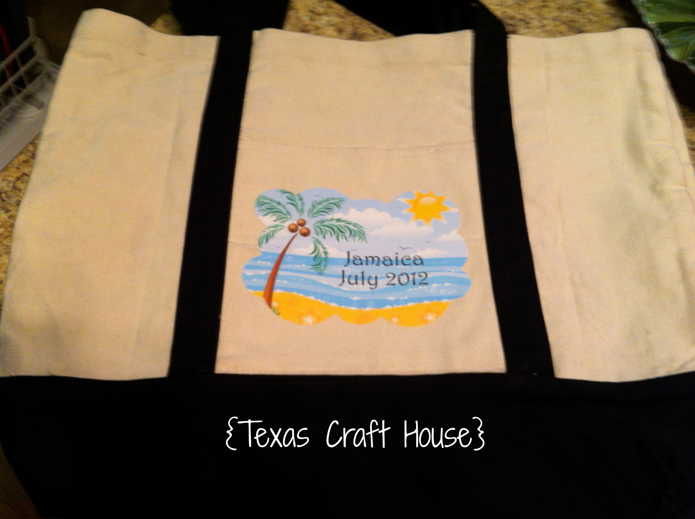 Diy Destination Wedding Gift Bags : ... the iron and the bag and then simply ironed it directly onto the bag
