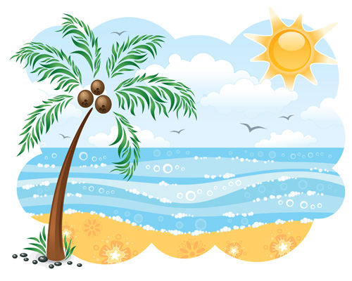 clipart beach scenes - photo #25