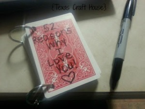 {Texas Craft House} 52 Reasons Why I Love You Playing Cards