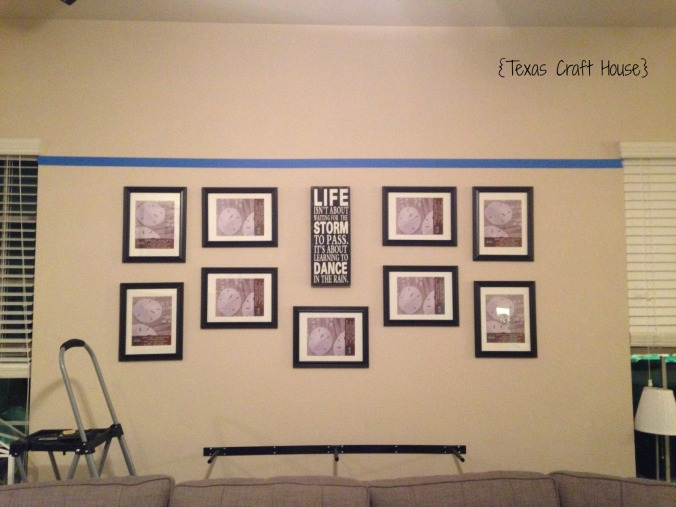 Wall Décor Curtain Rod with Hanging Frames | Texas Craft House