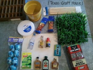 {Texas Craft House} Man Bouquet Tutorial: What a great idea for your husband, fiance, boyfriend, dad, friend, father! Blog has great ideas for fillers for this gift