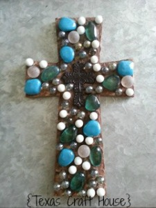{Texas Craft House} Cross with Marbles - an easy DIY craft with tutorial