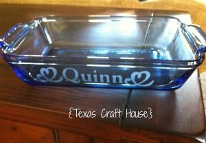 {Texas Craft House} Etch your own Casserole Dish