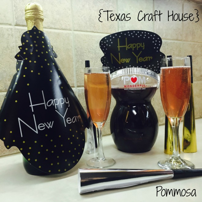 {Texas Craft House} Pommosa made with Champagne and Pomegranate Juice