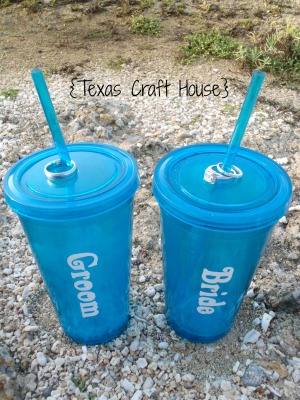 {Texas Craft House} Using the Cricut to Personalize Tumbler