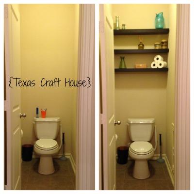 {Texas Craft House} Master Bath Toilet Room Makeover