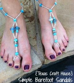 {Texas Craft House} Simple Barefoot Sandals
