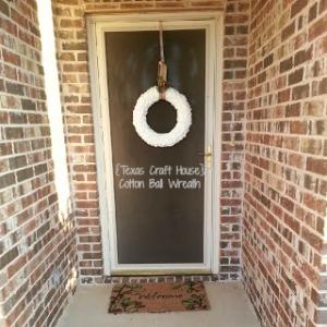 {Texas Craft House} Cotton Ball Wreath
