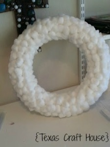 {Texas Craft House} Cottonball Wreath
