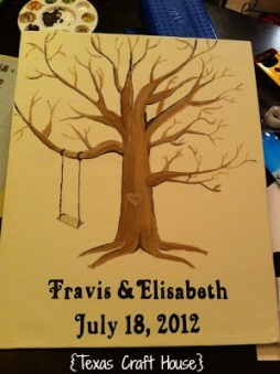 {Texas Craft House} DIY Wedding Guest Book Thumb Print Tree