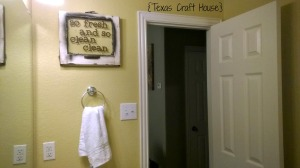 {Texas Craft House} Old Window turned Bathroom Sign