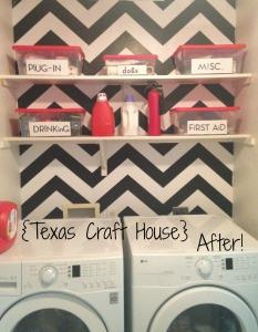 {Texas Craft House} Laundry Room Wallpaper Transformation