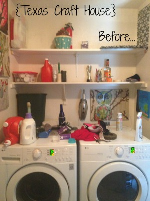 {Texas Craft House} Laundry Room Wallpaper Transformation