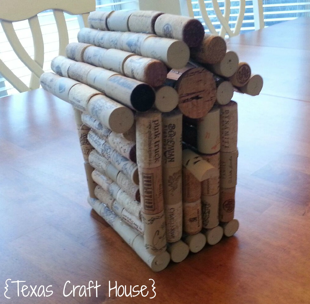 Wine cork birdhouse texas craft house for How to build a birdhouse out of wine corks