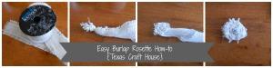 {Texas Craft House} Burlap flower rosette tutorial