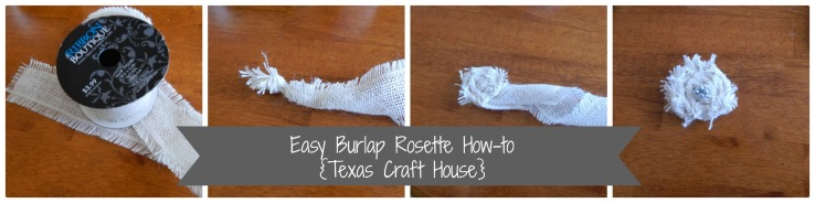 {Texas Craft House} Burlap flower rosette tutorial