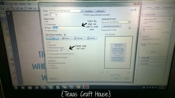 {Texas Craft House} FREE Kitchen printable - just print and add to a frame
