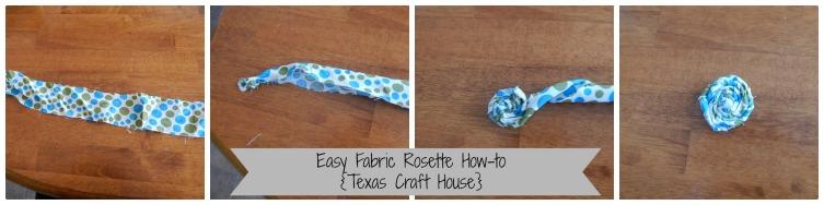 {Texas Craft House} fabric flower rosette tutorial