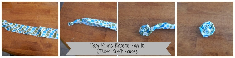 {Texas Craft House} fabric flower rosette tutorial