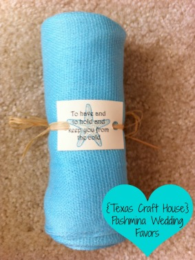 {Texas Craft House} Pashmina Destination Wedding Favors