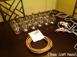 {Texas Craft House} Glass Sand Jar Wedding Favors