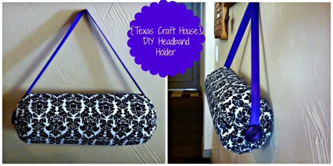 {Texas Craft House} DIY Headband Holder - Could make this for a daughter, niece, sister, friend or younger girl as a gift. Great way to organize all those headbands too!