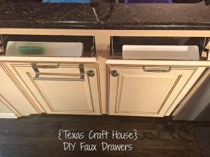 {Texas Craft House} Installing your own Faux Drawers