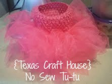 {Texas Craft House} Baby gift - no sew tutu