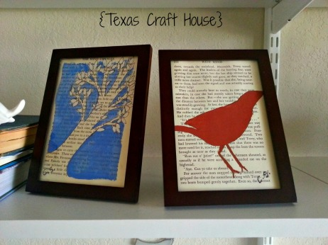 {Texas Craft House} Painted Book Pages