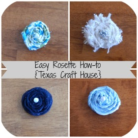 {Texas Craft House} Flower rosette tutorial for tulle, fabric, ribbon and burlap. These cute little flowers can go on headbands, tutus, home decor, mason jars, gift wrap, anything!