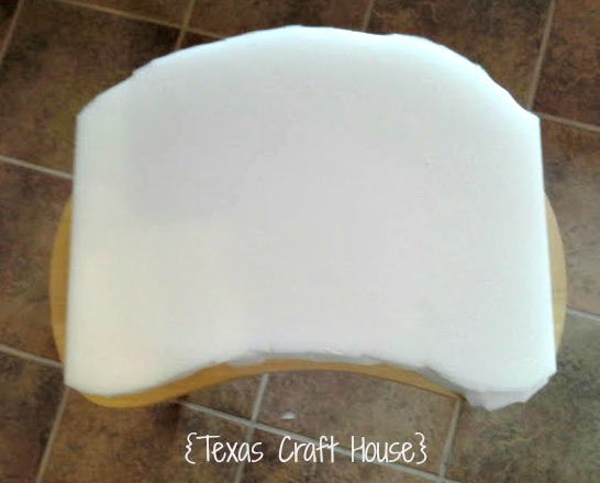 Diy Fabric Covered Vanity Stool Or Chair Texas Craft House