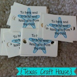 {Texas Craft House} Pashmina Destination Wedding Favors