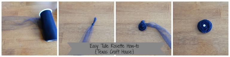 {Texas Craft House} tulle flower rosette tutorial