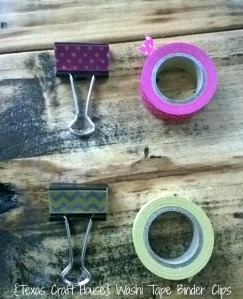 {Texas Craft House} Washi tape binder clips- these would be great to give as gifts for teachers, students, coworkers, friends or even to add some charm to your home office