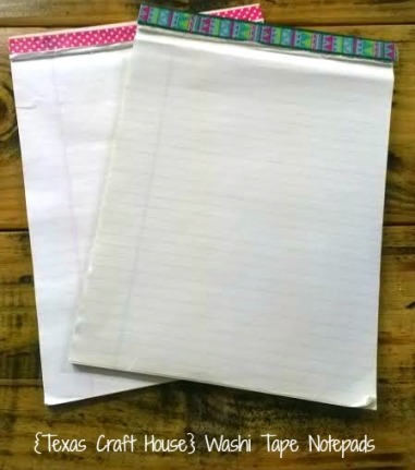 {Texas Craft House} Washi tape notepad - these would be great to give as gifts for teachers, students, coworkers, friends or even to add some charm to your home office