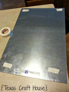 {Texas Craft House} Great cricut craft - make a menu board using a sheet of metal and vinyl. You can write on metal with an expo and it wipes right off!