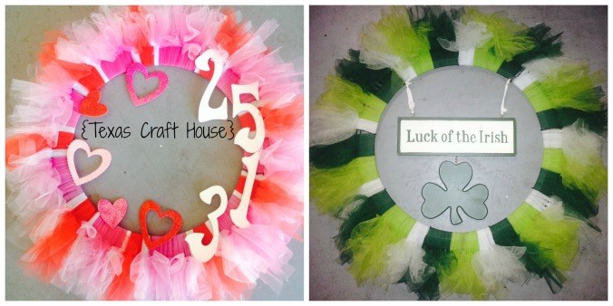 {Texas Craft House} Personalized Holiday Wreaths