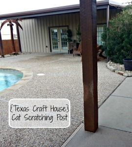 {Texas Craft House} Cat Scratching Post