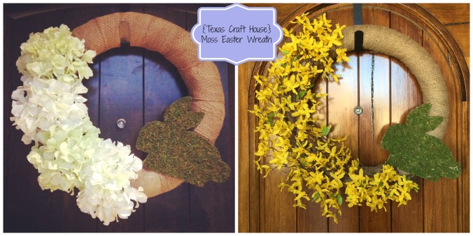 {Texas Craft House} Easter Moss Wreath