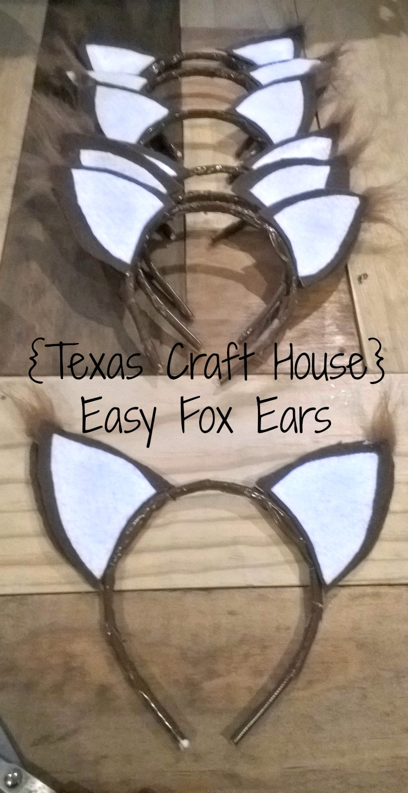 Easy fox ears make it yourself texas craft house texas craft house easy fox ears make it yourself for a costume or solutioingenieria Images