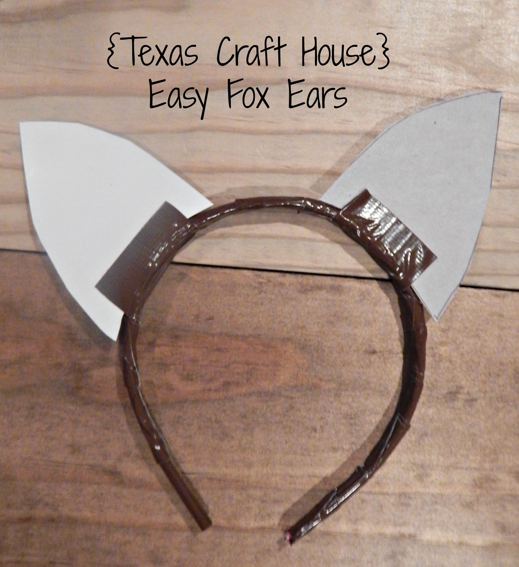 Easy fox ears make it yourself texas craft house texas craft house easy fox ears make it yourself for a costume or solutioingenieria Gallery