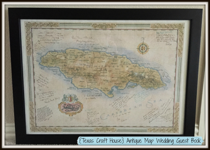 {Texas Craft House} Use an Antique Map as a Guest Book for your Destination Wedding