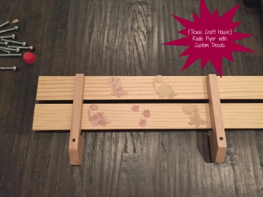{Texas Craft House} Radio Flyer with Custom Decals