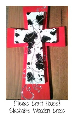 {Texas Craft House} DIY Stackable Wooden Crosses - step by step tutorial pictures and ideas