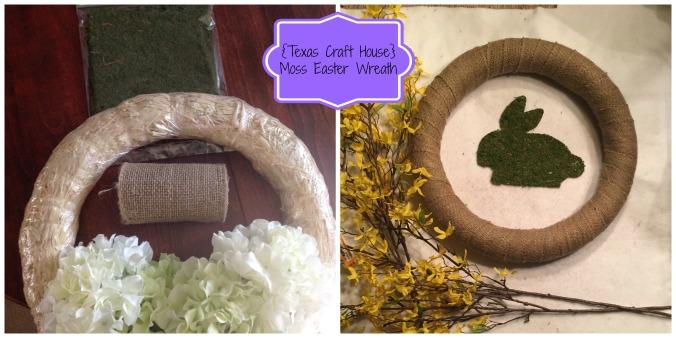 {Texas Craft House} Easter Moss Wreath