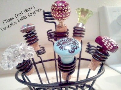 Decorative Wine Bottle Stoppers Prepossessing Drawer Pulls As Decorative Bottle Stoppers  Texas Craft House Design Ideas