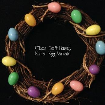 {Texas Craft House} Easter Egg Wreath