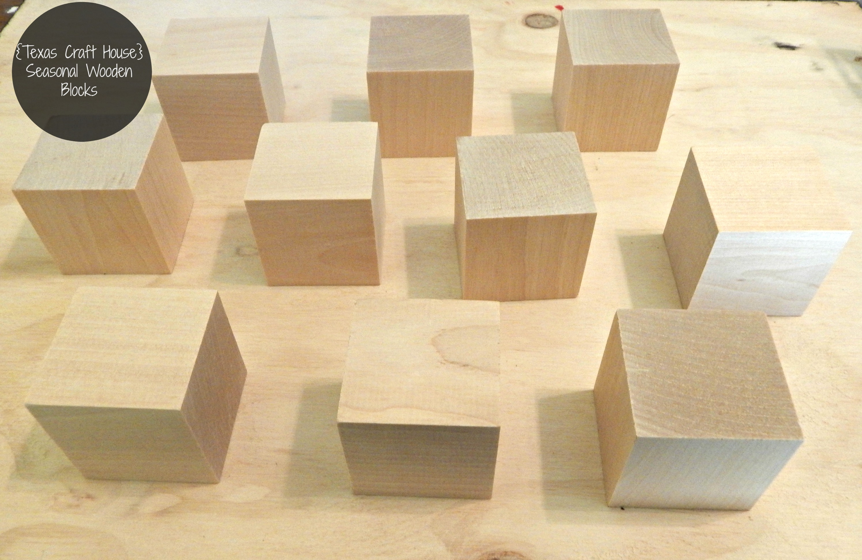 Wooden Blocks For Crafts ~ Seasonal wooden blocks texas craft house