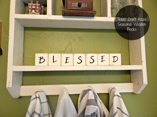 {Texas Craft House} Seasonal Wooden Craft Blocks