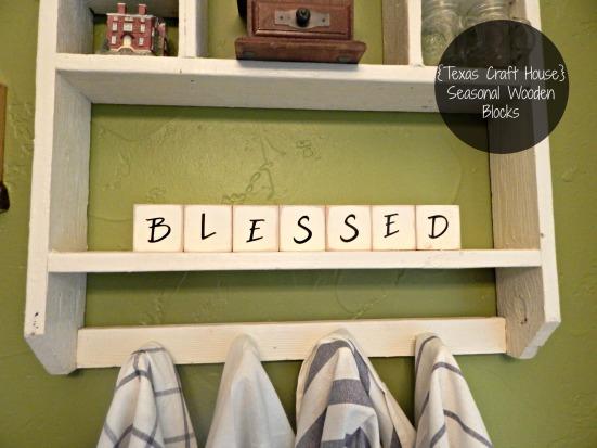 {Texas Craft House} Seasonal Wooden Craft Blocks